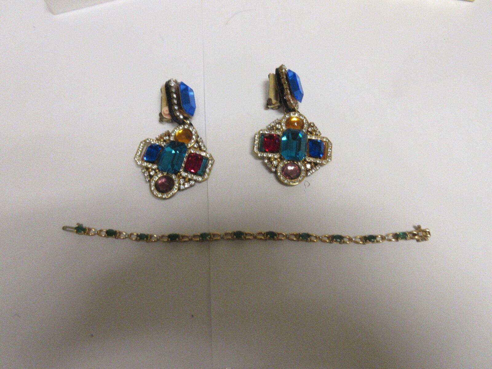 Costume Jewelry ,Vintage Signed Hansen 1989 , Earrings