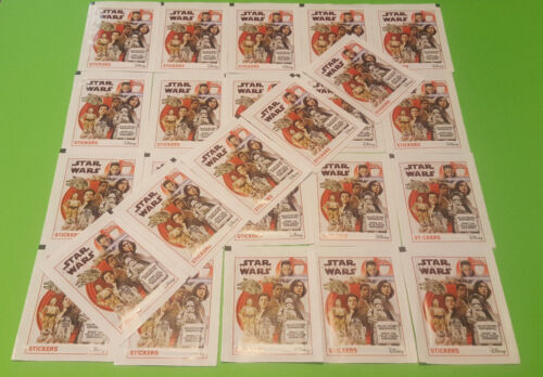 Topps Star wars el último caballero Jedi sticker 25 bolsas sticker