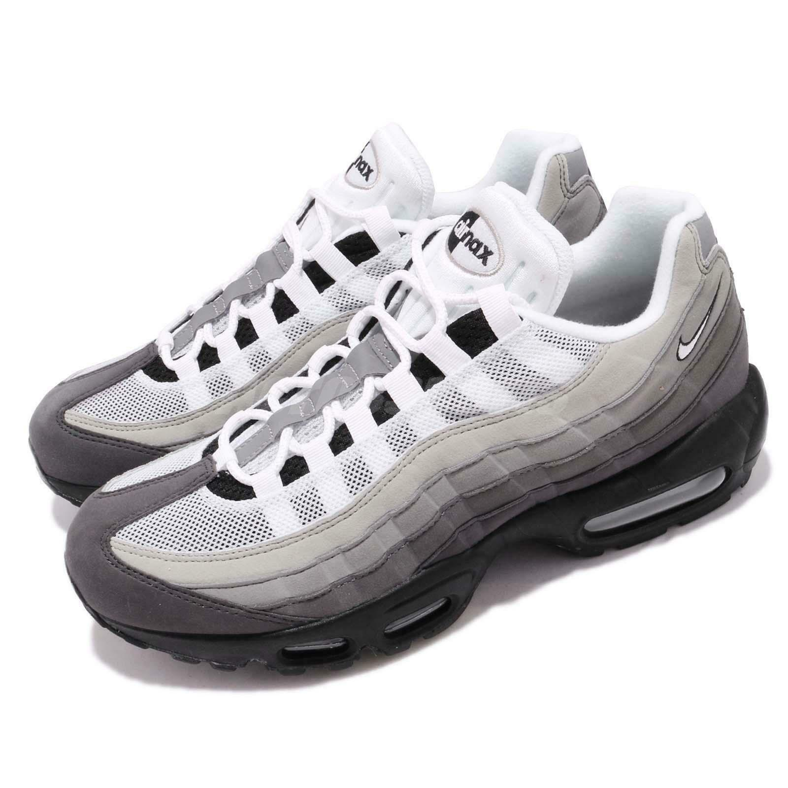 Nike Air Max 95 OG White Grey Gradient Men Running Lifestyle Shoes AT2865 003