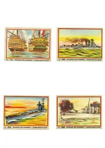 JACQUES CHOCOLATE, BELGIUM - 8 NAVAL SHIPPING CARDS  - SCARCE ITEM
