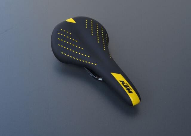 KTM Ultra Sport und Touren Sattel in schwarz-gelb Herren Fahrradsattel