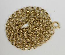 """Pesado 9ct oro de Belcher Enlace collar de cadena larga señoras 20"""" P1805"""