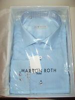 Marion Roth Chemise Manches Longues Taille Xxl (45/46) Uni Bleu Ciel