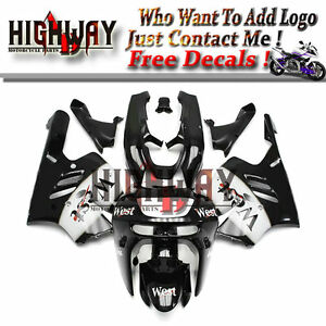 Motorrad-Bodywork-Fairing-Kits-Cowling-Fit-Kawasaki-ZX9R-94-97-black-white