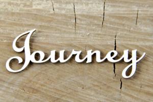 Inschrift Journey 2Stk SCRAPINIEC Dekorpappe Die Cut Chipboard Dekoration 3760