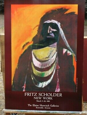 Fritz Scholder  Poster 1980 titled Sunset Indian Horwitch Galleries