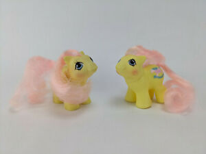 Milkweed & Tumbleweed	- Newborn Twins Year 5 - G1 1987 Vintage My Little Pony
