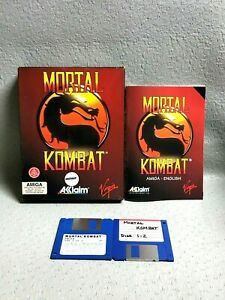 VINTAGE-COMMODORE-AMIGA-MORTAL-KOMBAT-1993-90s-MINT-3501