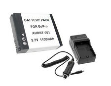 New 4pcs AHDBT-001 Battery and Charger For Gopro HD HERO2 Surf Edition AHDBT001
