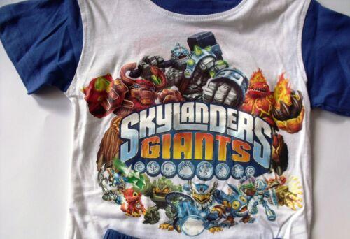 Official BOYS SKYLANDERS GIANTS SHORT SLEEVE PYJAMA SET 2-8 YEARS