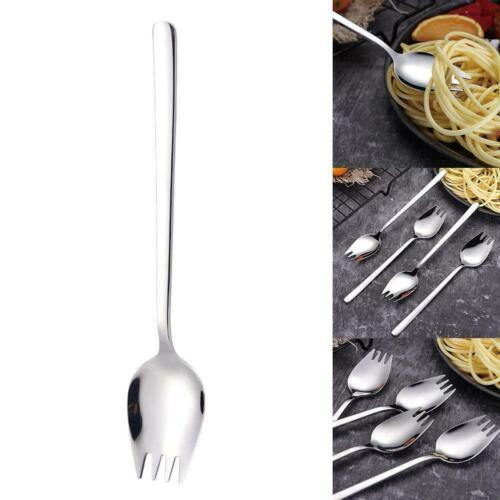2 in1 Stainless Steel Spork Spoon Fork Cutlery Utensil Outdoor Combo Picnic  vff