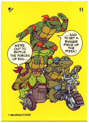 C1368 Turtles #11 Teenage Mutant Ninja Turtles 1989 Topps Sticker