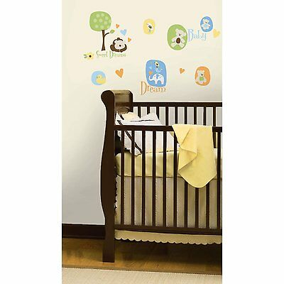 RoomMates Modern Baby Animal Bear Peel and Stick Wall Decals