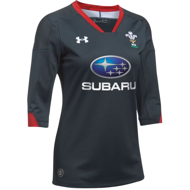 d6ee49c57ad Under Armour Wales Womens Away Supporter Rugby Shirt 2017-2019 - Anthracite