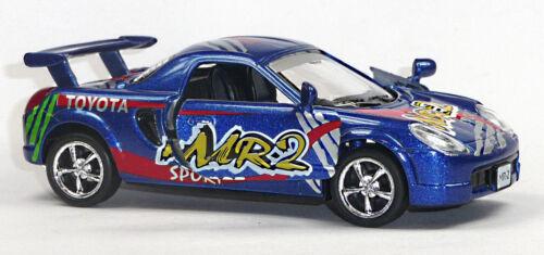 Toyota MR-2 Rennwagen Sammlermodell 1:32 metallic blau von KINSMART NEU