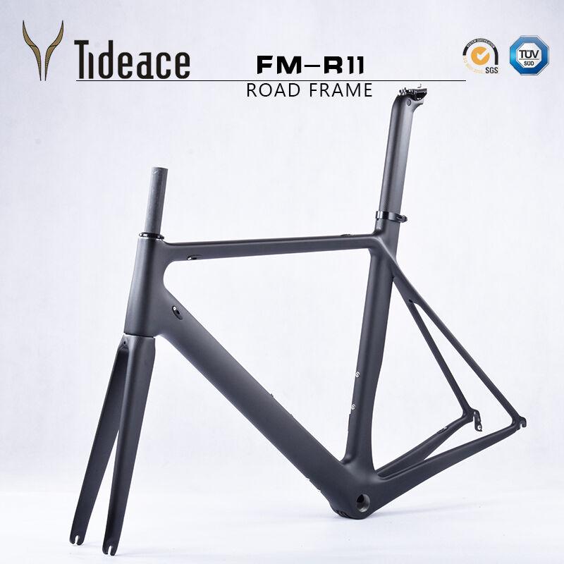 TELAIO in Carbonio Strada Bicicletta Reggisella   FORCHETTA BSA ciclismo bicicletta frame frameset 700 C
