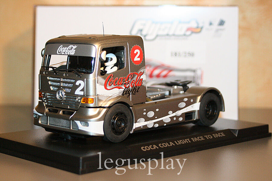 Slot SCX Scalextric Truck Flyslot 202304 Mercedes Benz Coke Light Special