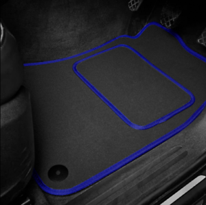 High Quality Car Floor Mats Set In Black/Blue To Fit Mazda 3 (2005-2009)