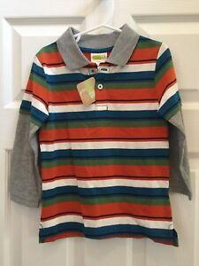NWT-Crazy-8-Boys-Striped-Shirt-Size-3-yrs