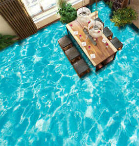 Details About Clear Pool Water 3d Floor Mural Photo Flooring Wallpaper Home Print Decoration