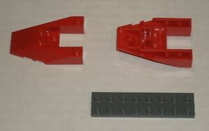 6132380 Brick 6153 LEGO NEW 6x4 Red Wedge with Cutout 2x
