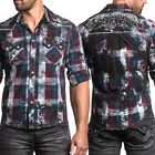 AFFLICTION Mens Embroidered Button Down Shirt VOLTAGE Biker UFC Roar S-XXL $88