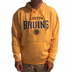 271d72da6aa Image is loading Boston-Bruins-Hoodie-Mens-Gold-Embroidered-Fleece-pullover-