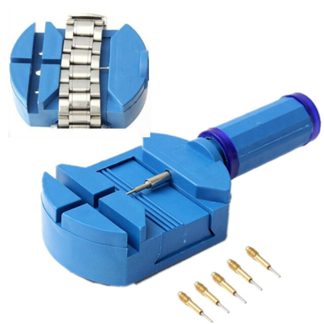 Wrist Bracelet Strap Adjuster Watch Band Link Remover + 5 Pins Repair Tool Set