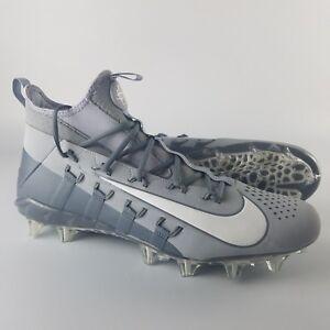 4877516d9caf0 Details about Nike Huarache 6 Elite Men's Size 15 Lacrosse LAX Cleats Grey  White 880409-011