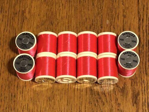 12 Spools Danville Size A Fl Fire Orange Fly Tying Thread