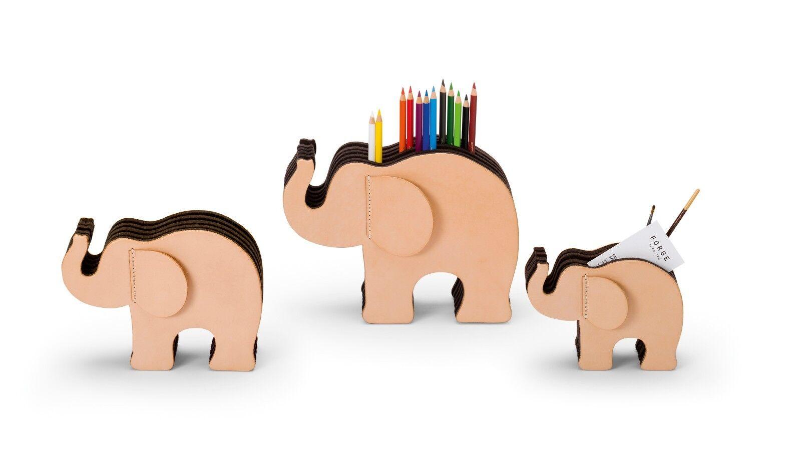 Graf von Faber-Castell Elefant aus Naturleder | Spielen Sie Leidenschaft, spielen Sie die Ernte, spielen Sie die Welt  | Niedrige Kosten  | Exquisite Handwerkskunst