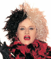 101 Dalmatians Cruella de Vil Wicked Lady Wig Halloween Costume Mistress 24527