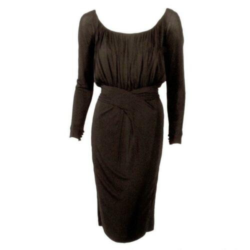 CEIL CHAPMAN Vintage Black Long Sleeve Jersey Coc… - image 1