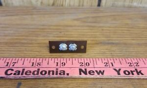 Vintage-2-Terminal-Speaker-Phenolic-Screw-Terminal-Strip-NOS