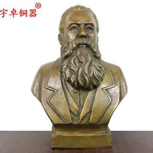 12 Great Man Communist Thinker Engels Bronze Statue Ebay