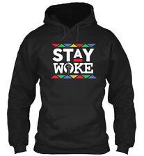 Stay Woke Hashtag Protest Gildan Hoodie Sweatshirt
