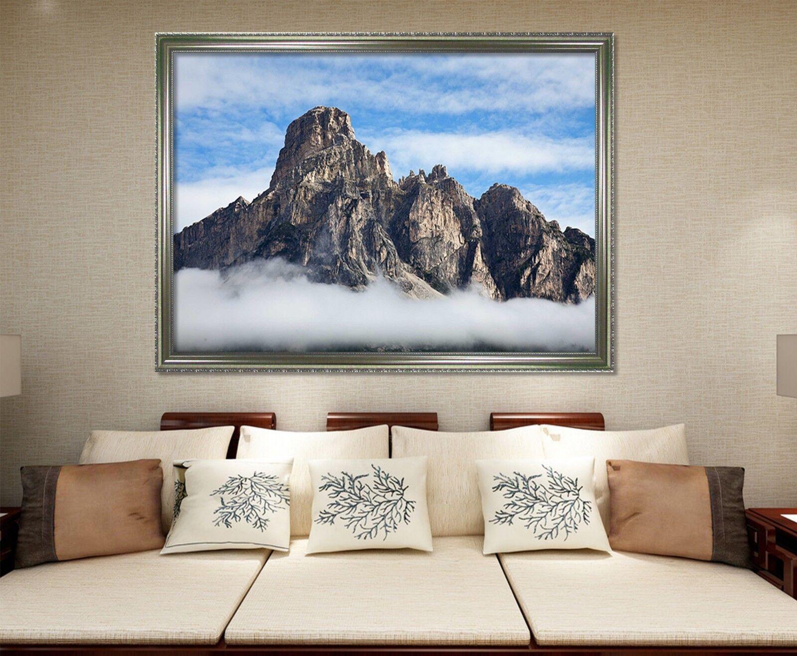 3D Berg Wolke 69 Gerahmt Poster Daheim Dekor Drucken Malerei Kunst AJ
