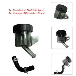 Black Engine Motorcycle Brake Clutch Master Cylinder FluidReservoir Oil Tank Cap
