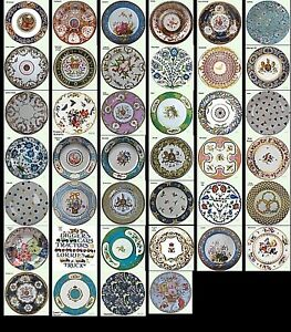 Museum-Collection-Decorative-Tin-Enamel-Floral-Plates-Picnic-Party-Display