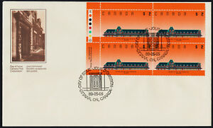 Canada-1182-TL-Plate-Block-on-FDC-McAdam-Railway-Station