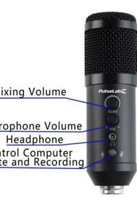 Pulselabz PL580 Studio Recording Microphone Broadcast Built-in Sound Echo Recording Singing Mic Phone Computer PC Stream Canada Preview