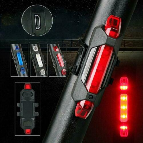 Bicycle Taillight Rechargeable Rear light Bicycle LED USB Tail Safety Warning