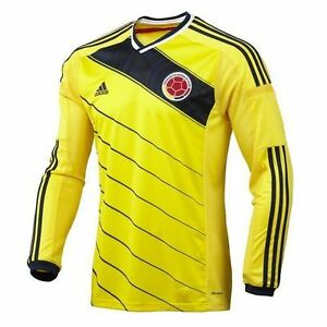 145a5525b Image is loading COLOMBIA-ADIDAS-AUTHENTIC-Climacool-Football-Soccer-Jersey -Long-
