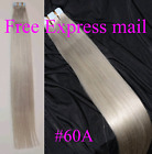 tape skin weft Remy Human hair extensions black brown blonde Free express