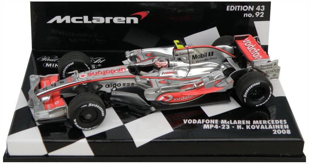 Minichamps McLaren Mercedes MP4-23 2008 - Heikki Kovalainen 1 43 Scale