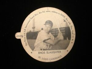 1954-Enos-Slaughter-St-Louis-Cardinals-Dixie-Lid-with-Tab-EX