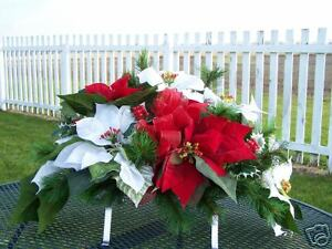 Holly-Berries-amp-Pine-Cemetery-Grave-Tombstone-Saddle-Black-Friday-Shopping-Deals