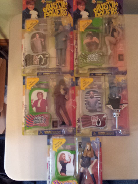 McFarlane Austin Powers Lot of 5 Action Figures - New in Box RARE