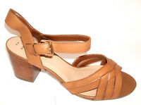 Womens Look Size 9 43 Wide Fit Tan Real Leather Transvestite Sandals Shoes