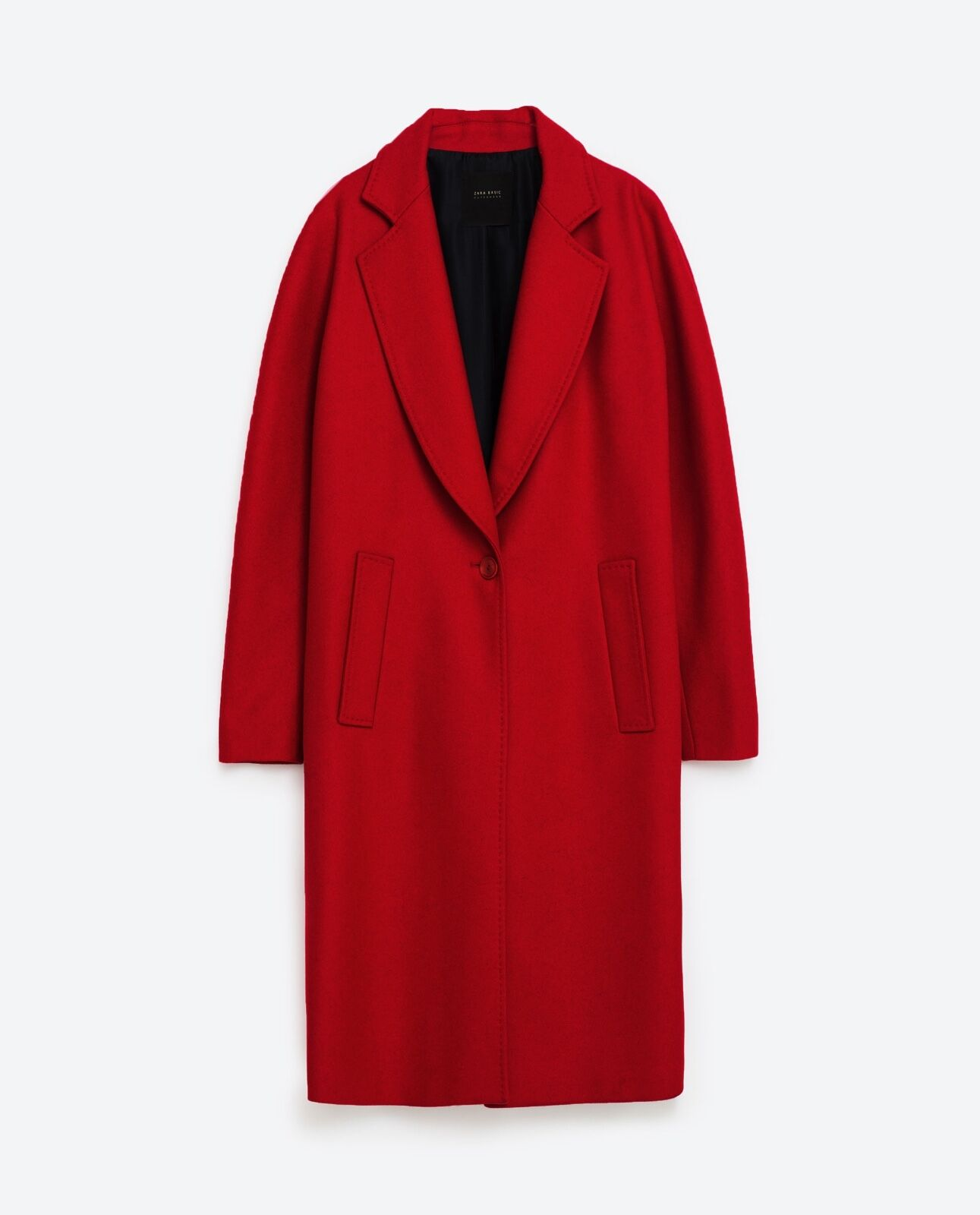Zara rouge Coat With Pockets Taille S
